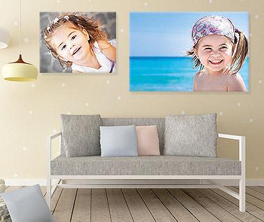 La stampa su tela delle tue foto, dei tuoi quadri, delle tue immagini elaborate, della tua arte digitale. Personalizza con la tua grafica la stampa diun bel quadro su tela erendi esclusivo il tuo ambiente. Un'ottima soluzione perla decorazione di interni.