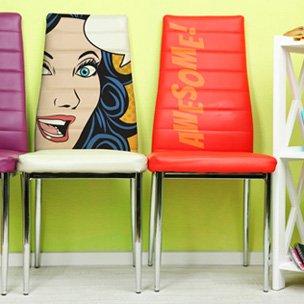 Stampa su pelle per rivestimento sedute, poltroncine, divani, sedute da ufficio